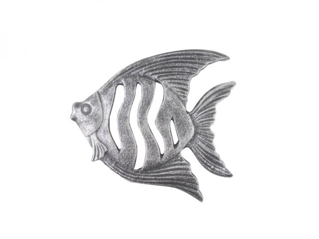 Rustic Silver Cast Iron Angel Fish Kitchen Trivet 7