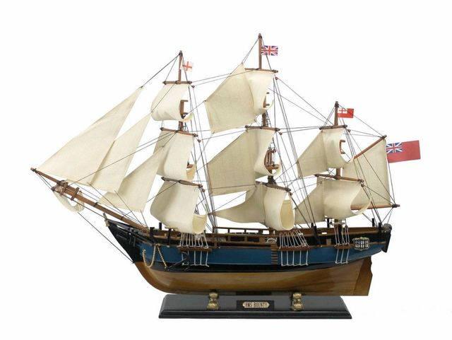 Wooden HMS Bounty Tall Model Ship 34