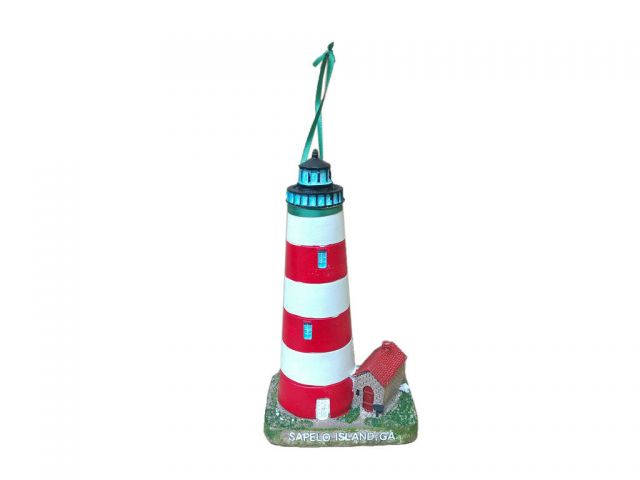 Sapelo Island Lighthouse Christmas Ornament 7