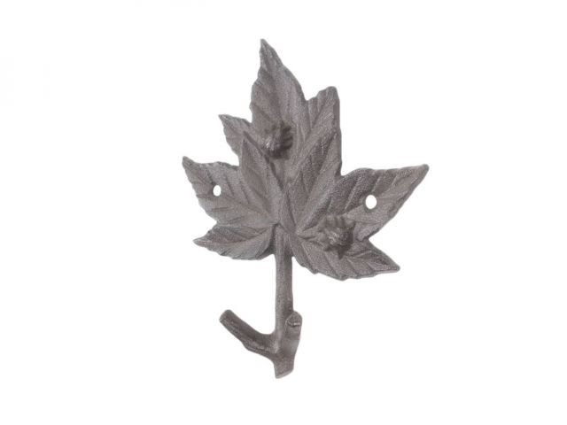 Cast Iron Maple Tree Leaves Decorative Metal Tree Branch Hooks 6.5