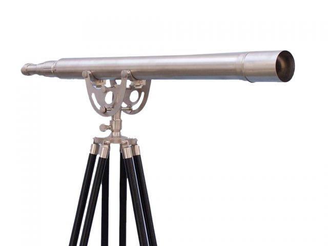 Floor Standing Brushed Nickel Anchormaster Telescope 65
