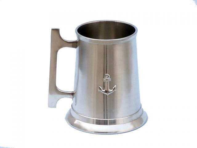 Brushed Nickel Anchor Mug With Cleat Handle 5