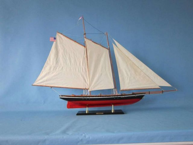 Wooden America Model Sailboat Decoration 50