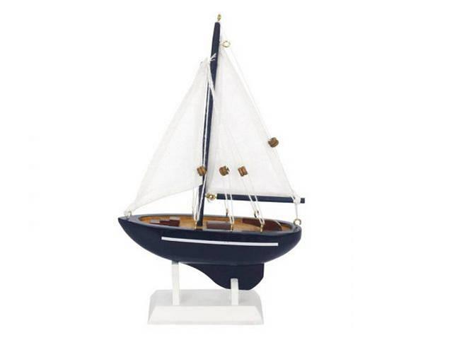 Wooden Gone Sailing Model Sailboat 9