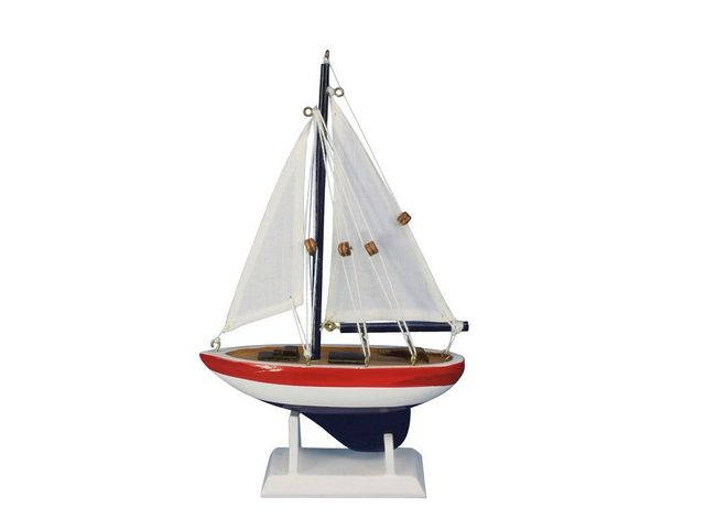 Wooden USA Sailer Model Sailboat Decoration 9