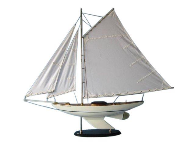 Wooden Oceanside Sloop Model Decoration 40