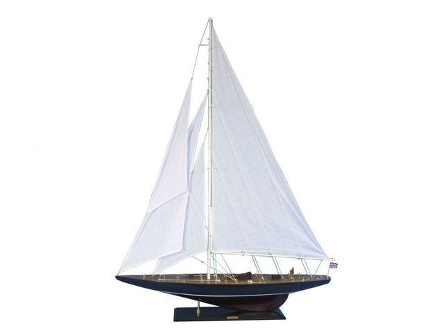 Wooden Endeavour Model Sailboat Decoration 60