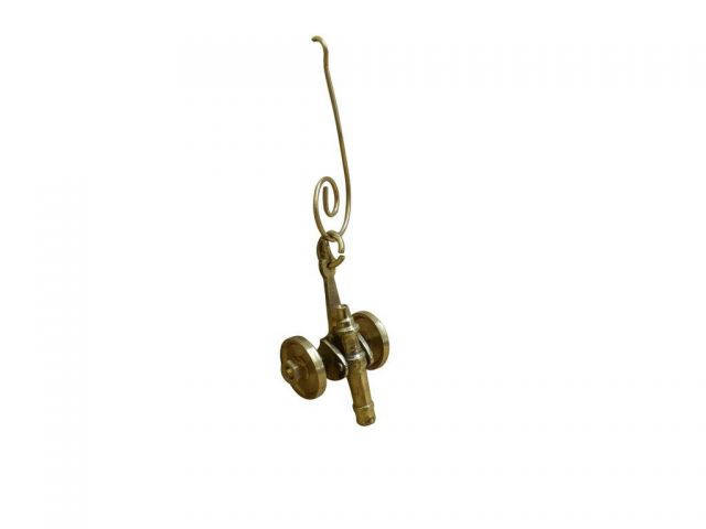 Solid Brass Cannon Christmas Ornament 4