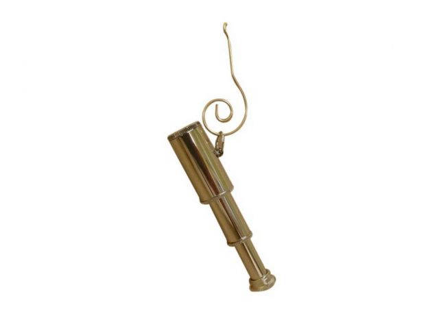 Chrome Spyglass Christmas Ornament 5