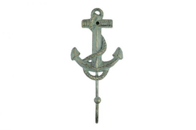 Antique Bronze Cast Iron Anchor Hook 7