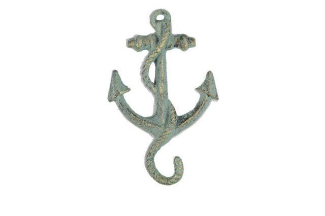 Antique Bronze Cast Iron Anchor Hook 5