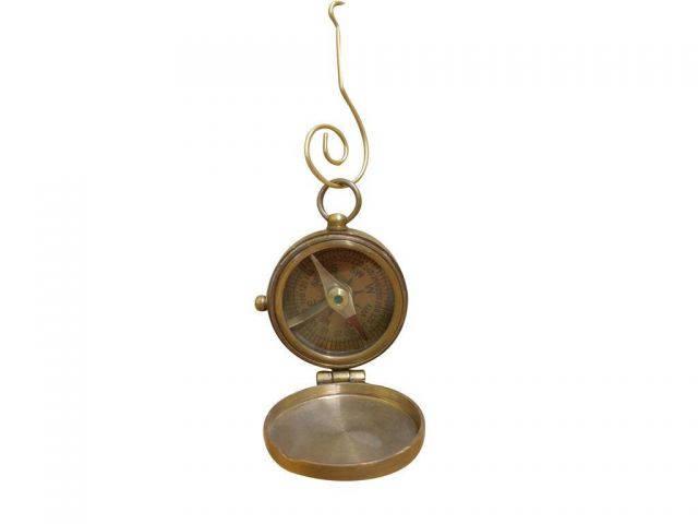 Antique Brass Magellan Compass Christmas Ornament 4