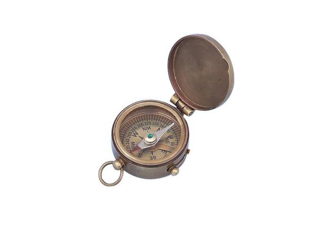 Antique Brass Magellan Compass 2