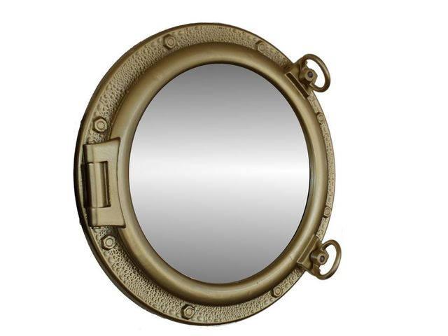Gold Finish Porthole Mirror 20