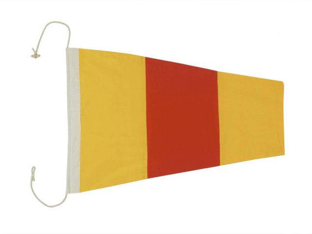 Number 0 - Nautical Cloth Signal Pennant Decoration 20