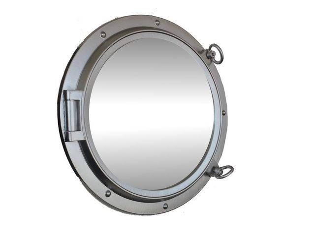 Silver Finish Decorative Ship Porthole Mirror 24