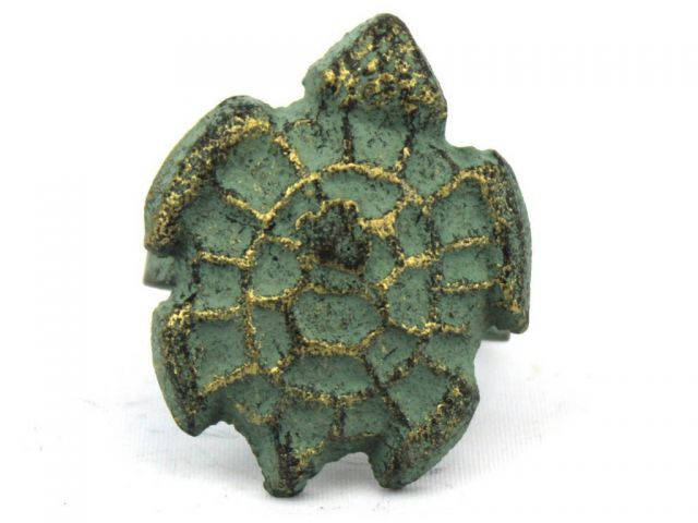 Antique Bronze Cast Iron Turtle Decorative Napkin Ring 2 - set of 2