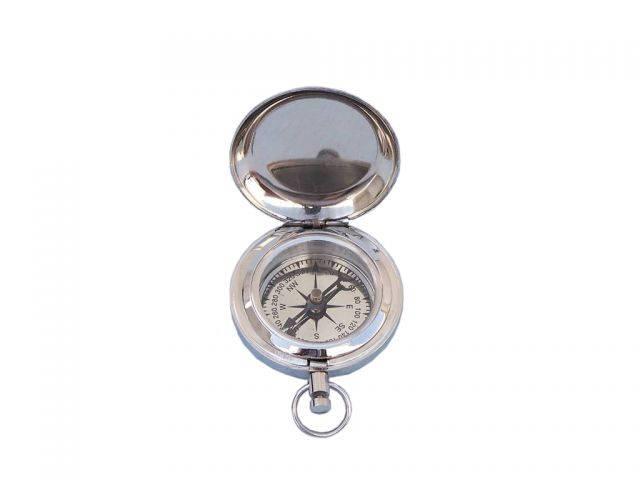 Chrome Anchor Scouts Push Button Compass 2