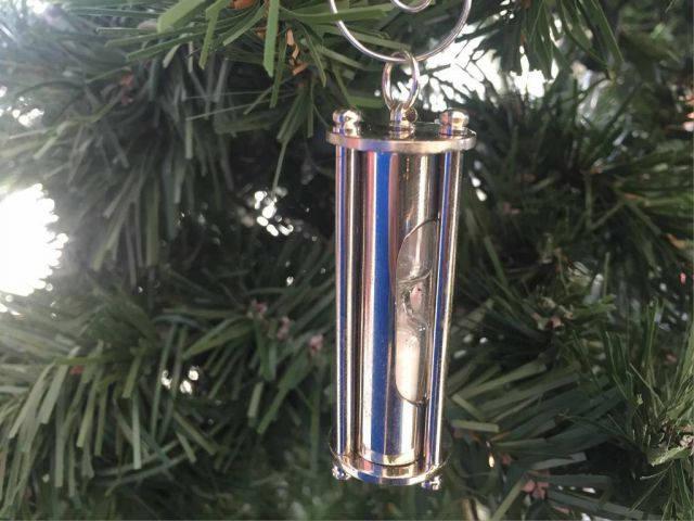 Chrome Hour Glass Christmas Ornament 6