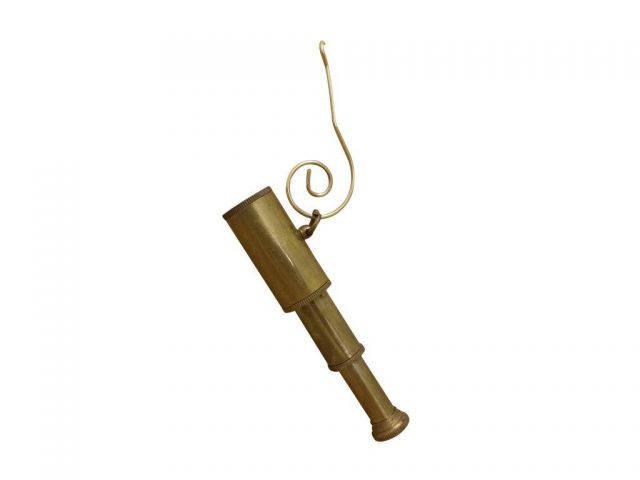 Antique Brass Telescope Christmas Ornament 5