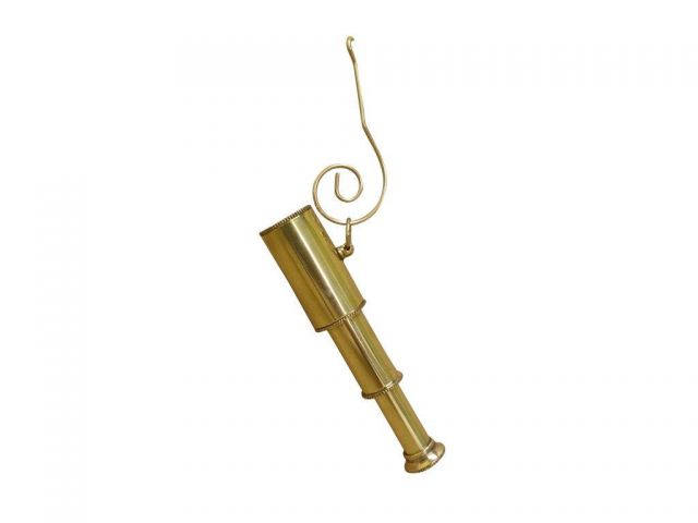 Solid Brass Telescope Christmas Ornament 5
