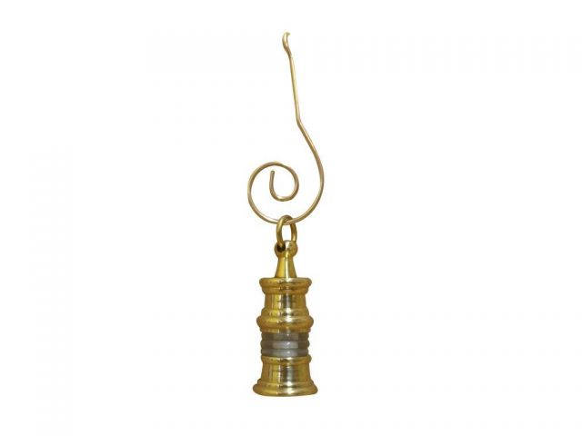 Solid Brass Oil Lamp Christmas Ornament 3