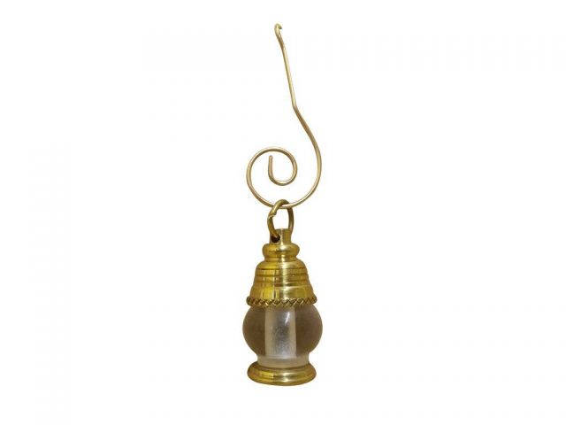 Solid Brass Oil Lamp Christmas Ornament 4