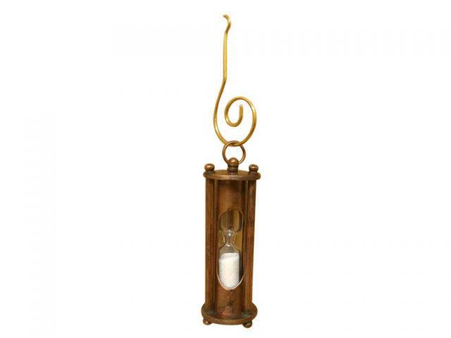 Antique Copper Hour Glass Christmas Ornament 5