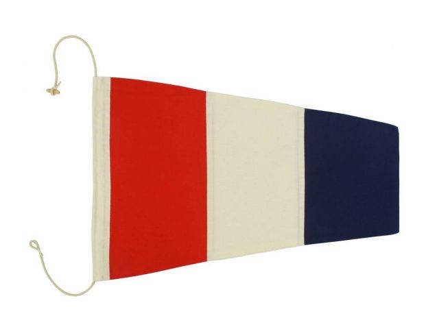 Number 3 - Nautical Cloth Signal Pennant Decoration 20