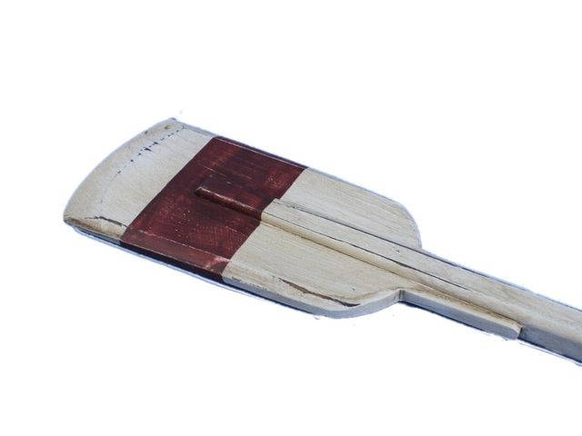 Wooden Rustic Manhattan Beach Decorative Squared Rowing Boat Oar with Hooks 50