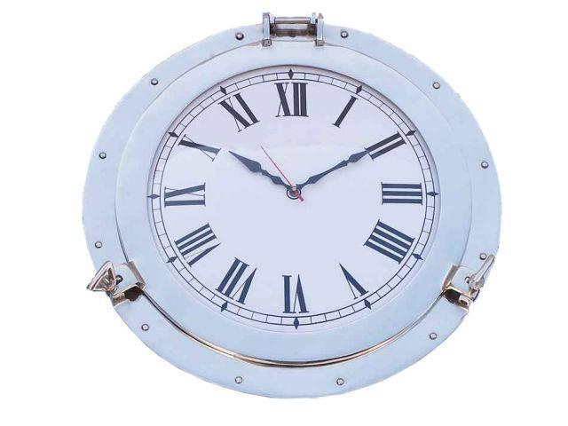 Chrome Decorative Ship Porthole Clock 24