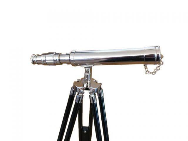 Standing Chrome Harbor Master Telescope 30