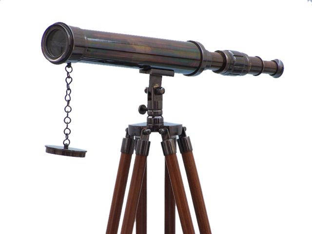 Floor Standing Oil Rubbed Bronze Harbor Master Telescope 50