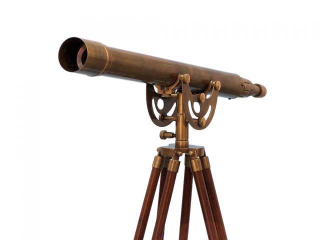 Floor Standing Antique Brass Anchormaster Telescope 50