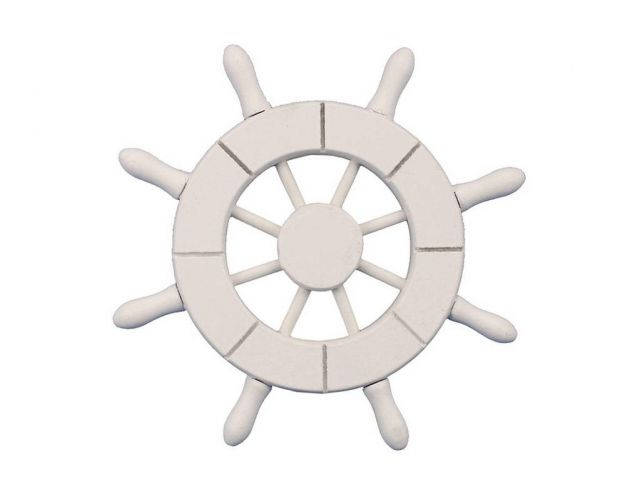 White Decorative Ship Wheel 6