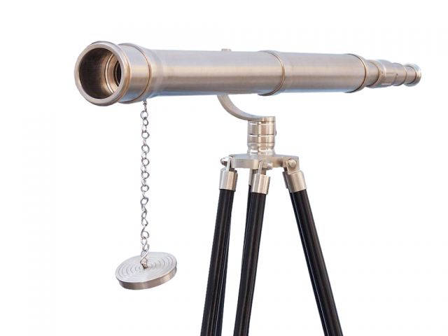Floor Standing Brushed Nickel Galileo Telescope 65