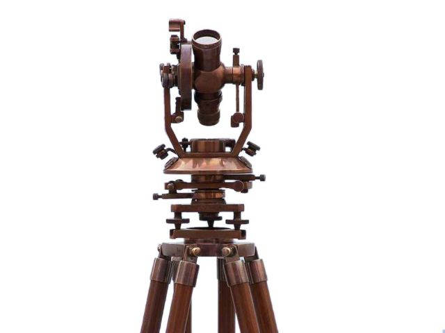 Floor Standing Antique Copper Theodolite 62