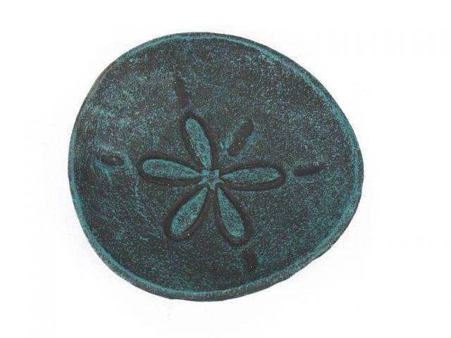 Seaworn Blue Cast Iron Sand Dollar Decorative Plate 6