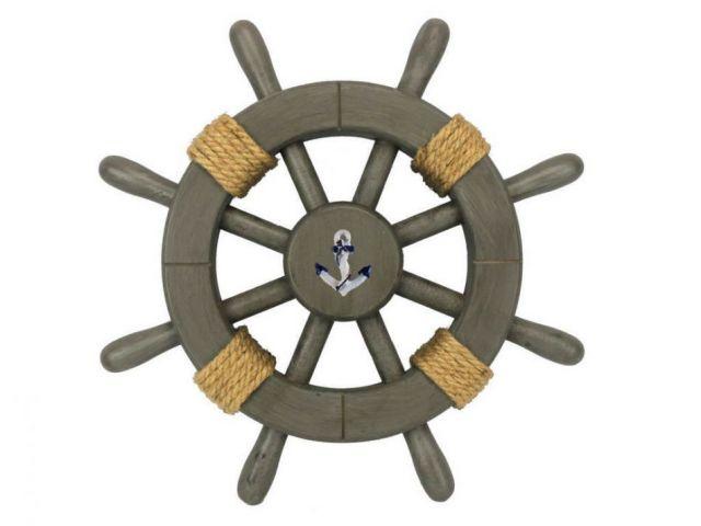 Antique Decorative Ship Wheel With Anchor 12