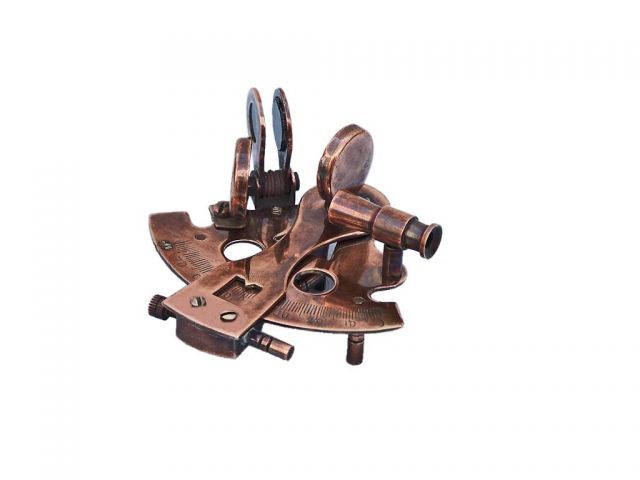 Antique Copper Sextant Paperweight 3