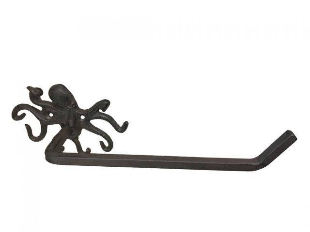 Cast Iron Octopus Toilet Paper Holder 11