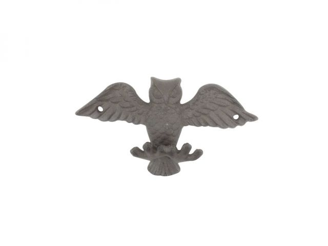 Cast Iron Flying Owl Decorative Metal Talons Wall Hooks 6