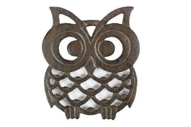 Cast Iron Owl Trivet 8