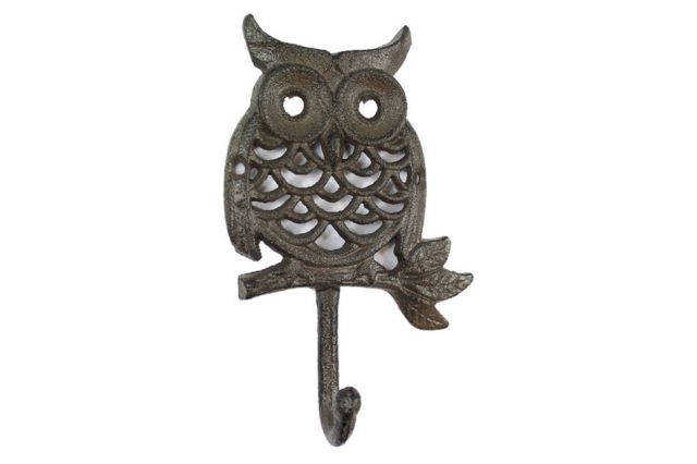 Cast Iron Owl Hook 6