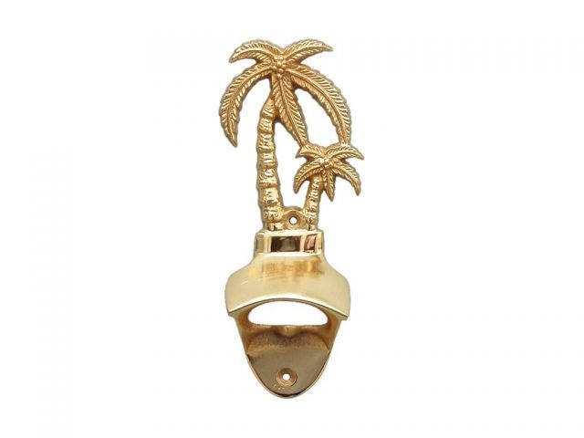 Gold Finish Wall Mounted Palmtree Bottle Opener 6