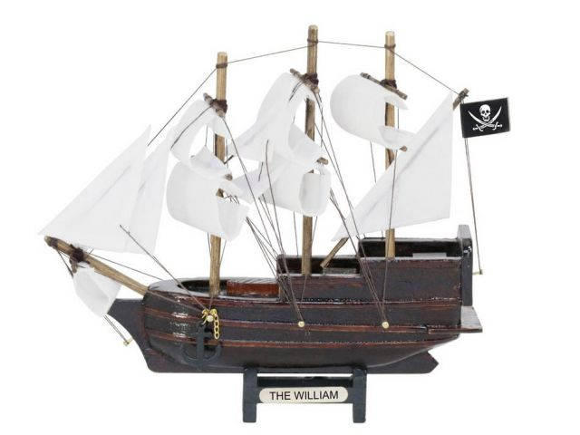 Wooden Calico Jacks The William White Sails Model Pirate Ship 7