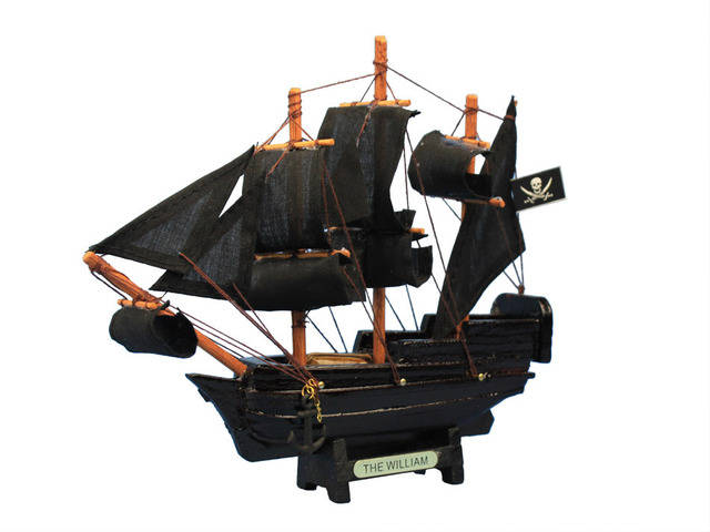 Wooden Calico Jacks The William Model Pirate Ship 7
