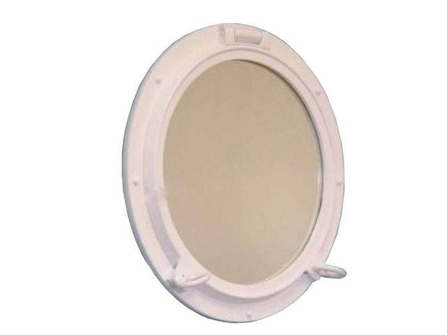 Gloss White Decorative Ship Porthole Mirror 20