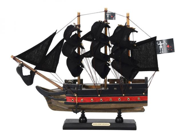 Wooden Blackbeards Queen Annes Revenge Black Sails Limited Model Pirate Ship 12