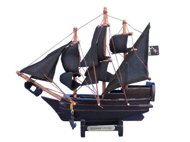 Wooden Blackbeards Queen Annes Revenge Model Pirate Ship 7